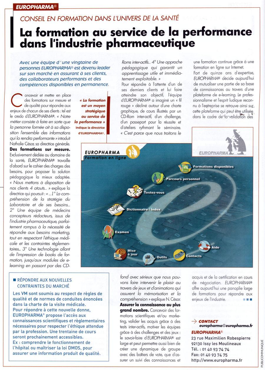 Article paru dans la revue Référence Business n°4 - mai/juin 2005