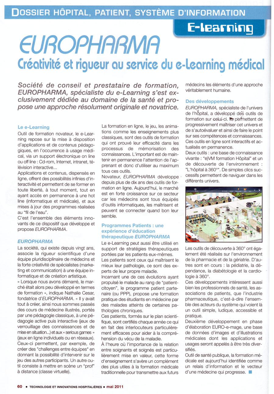 Article paru dans la revue Technologies et Innovations Hospitalières n°11 - mai 2011