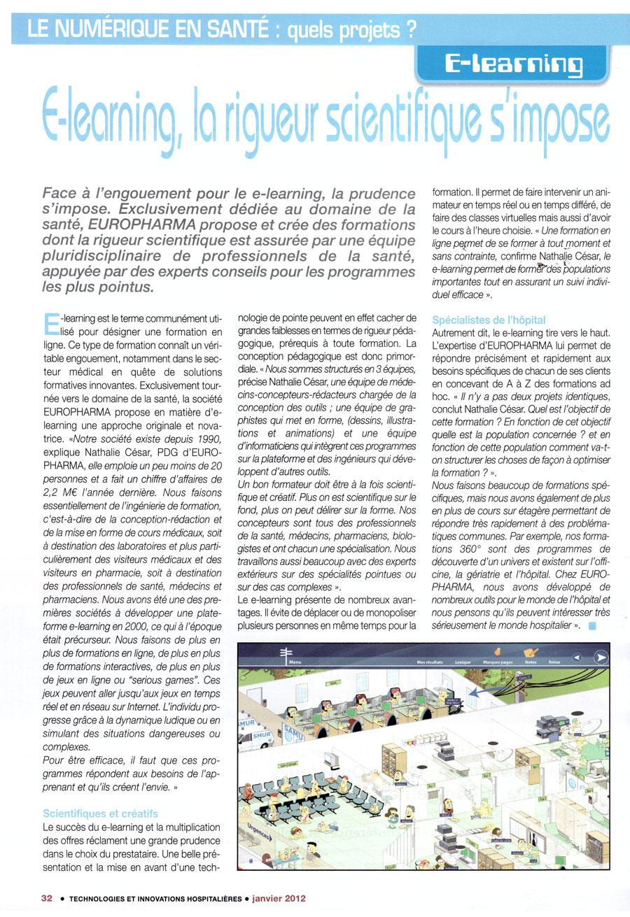 Article paru dans la revue Technologies et Innovations Hospitalières n°13 - janvier 2012