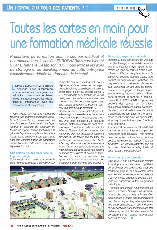 Article paru dans la revue Technologies et Innovations Hospitalières n°20 - mai 2014